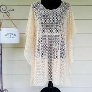 Lace Cover-up Easy Style Poncho TEMPO by Lavello